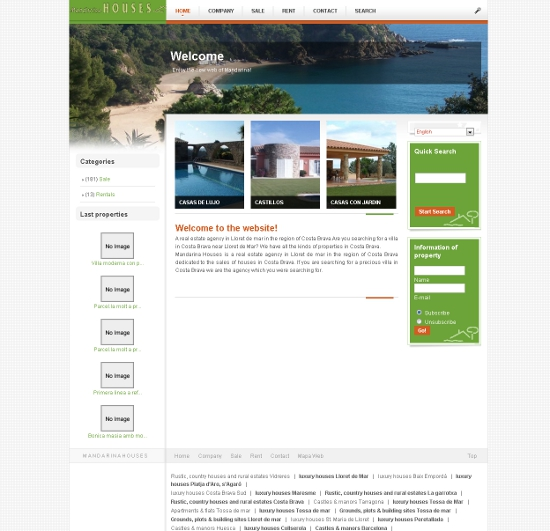 Web corporativa Joomla mandarinahouses